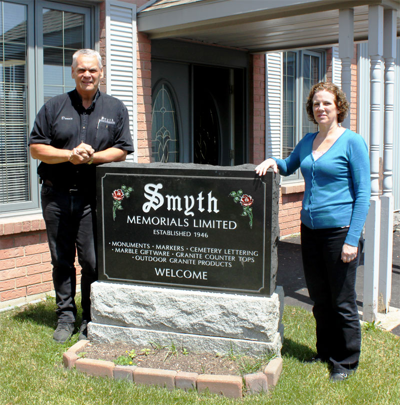 Dennis and Dawne from Smyth Memorials